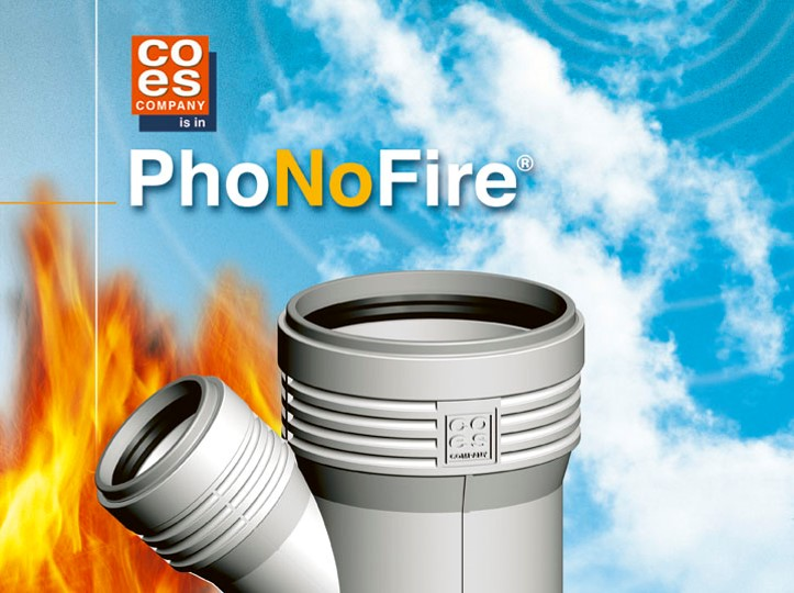 PhoNoFire fire rated drainage pipes
