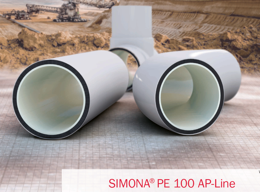 SIMONA® PE 100 AP-Line Pipes transport of solid waste